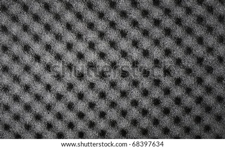 Closeup background of acoustic foam wall - stock photo