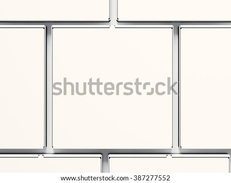 Closeup blank close pizza paper boxs isolated on white background. Horizontal mockup, top view. 3d render - stock photo