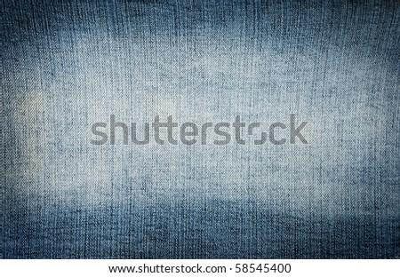 Closeup blue denim jeans texture with copy-paste space - stock photo
