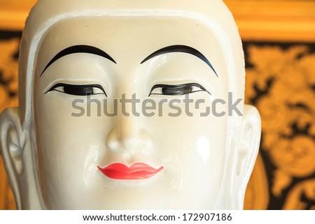 Closeup buddha statue - stock photo