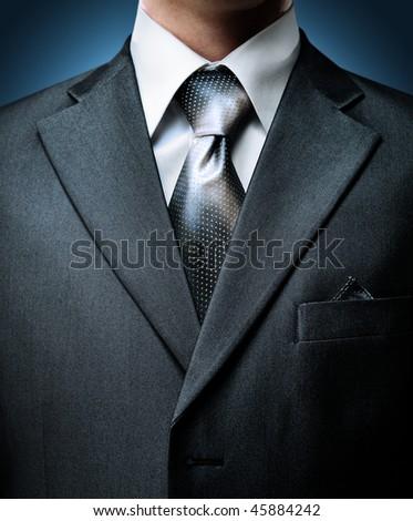 closeup businessman suit - stock photo