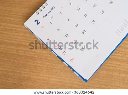 Closeup calendar Valentine concept. - stock photo