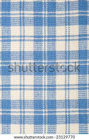 Closeup checkered blue and white  fabric