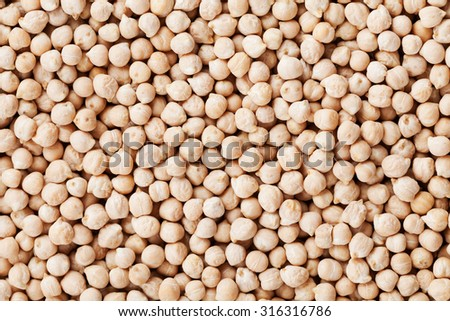 Closeup chickpea background, top view - stock photo