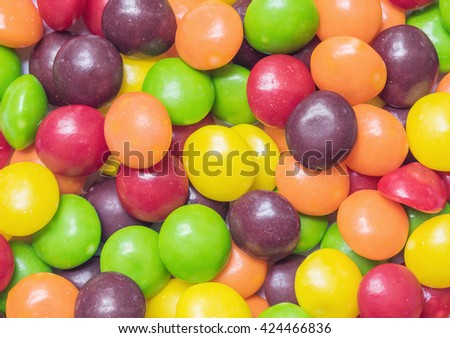 Closeup colorful candy textured background