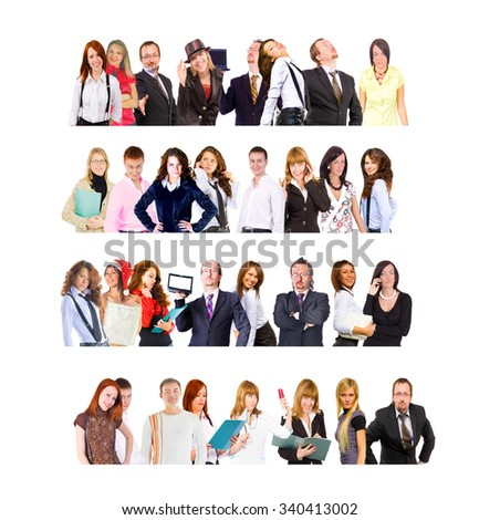 Closeup Concept People Diversity  - stock photo