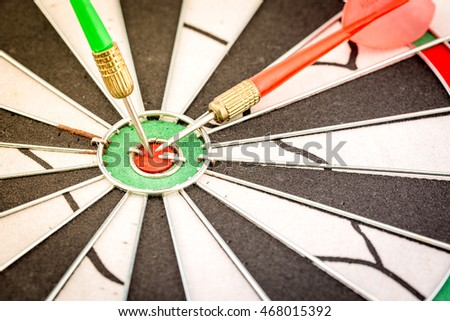 Closeup dartboard
