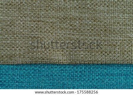 Closeup detail of green fabric texture background. - stock photo