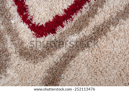 Closeup detail of pattern carpet and texture background