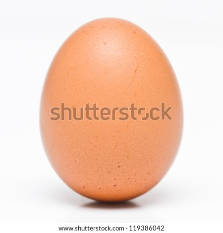 Closeup eggs isolated on white background. - stock photo