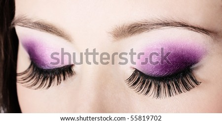 closeup eyes - stock photo