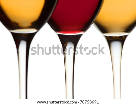 Closeup glass of wines