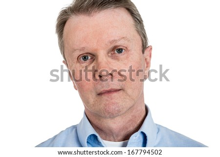 Closeup headshot portrait of handsome,serious senior business man, confident mature worker, elderly teacher isolated on white background. Positive human face expressions, emotions, feelings, attitude.