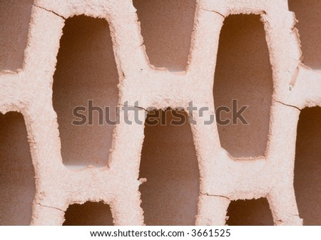 Closeup image from a brick - macro - stock photo