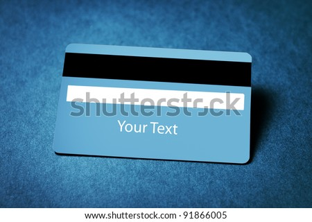 closeup image of a credit card with copyspace - stock photo
