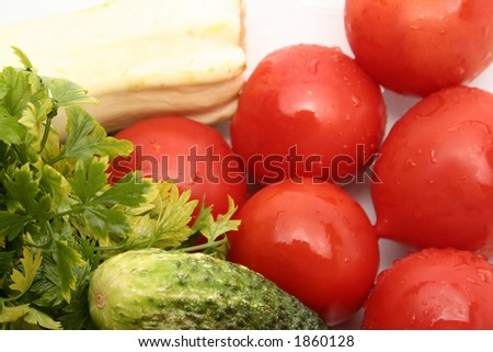closeup image of a vegetable composition