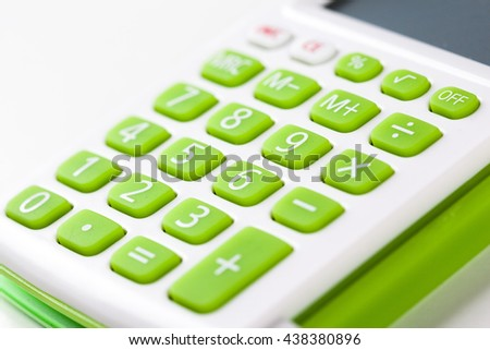 Closeup image of calculator keyboard