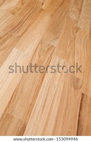 closeup image of parquet floor texture  - stock photo