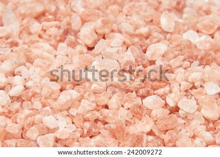 Closeup image of pink Himalayan salt crystals - stock photo