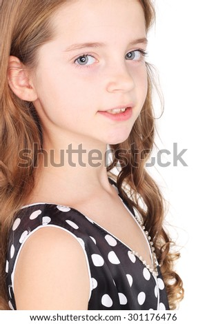 closeup image of the pretty little girl