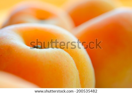 Closeup Image of the Ripe Juicy Apricots - stock photo