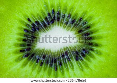 Closeup Kiwi - stock photo