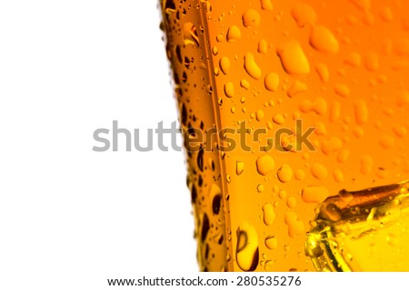Closeup misted on glass of whiskey - stock photo