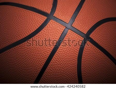 Closeup of a basketball ball background - stock photo