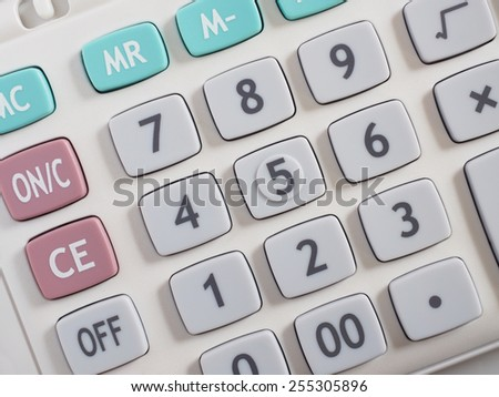 Closeup of a Calculator Keyboard