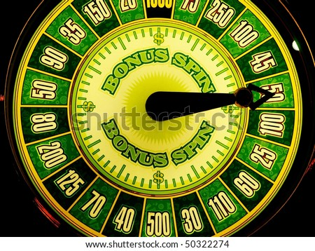 Closeup of a casino slot machine in Las vegas - stock photo