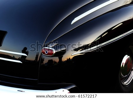 closeup of a classic vintage car - stock photo