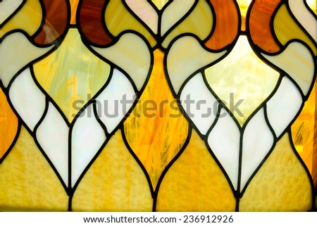 Closeup of a colored glass texured background - stock photo