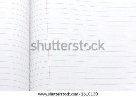 Closeup of a composition book with blank pages - stock photo