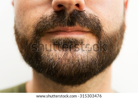 Closeup of a man's beard L
