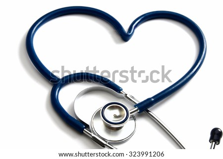Closeup of a medical stethoscope - stock photo