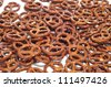 closeup of a pile of delicious pretzels - stock photo