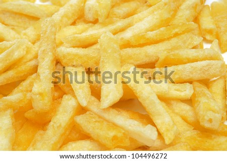closeup of a pile of french fries