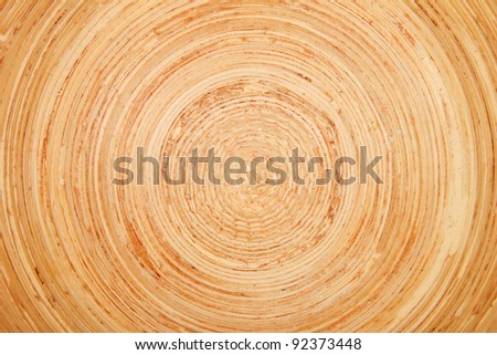 Closeup of a rounded wood structure - stock photo