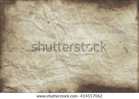 Closeup of a section of crumpled wrapping paper with grunge effect