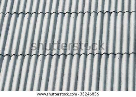 Closeup of a slated roof (as a background or texture) - stock photo