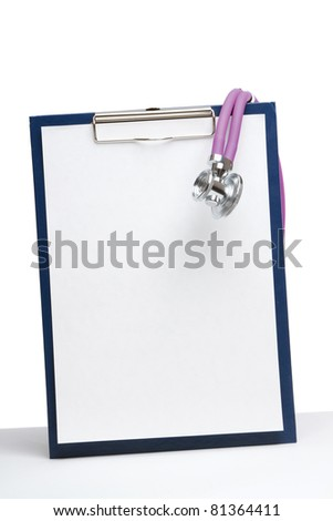Closeup of a stethoscope on a rx prescription - stock photo
