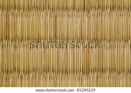 closeup of a tatami mat as used in japan - stock photo