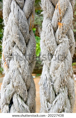 closeup of a thick rope - stock photo
