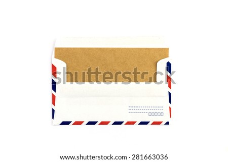 Closeup of air mail envelope