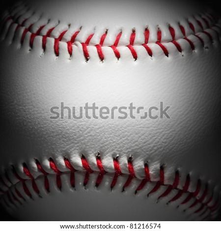 closeup of an baseball - stock photo