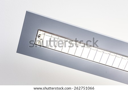 Closeup of an office light - stock photo