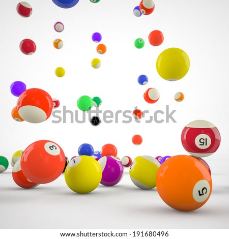 closeup of billiard balls - stock photo