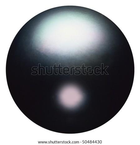 Closeup of black pearl. - stock photo