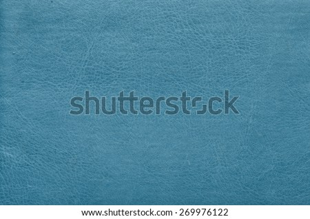 closeup of blue leather texture background