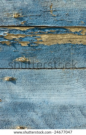 closeup of blue old wood texture - stock photo